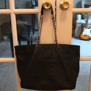 Like new large Tory Burch soft leather tote